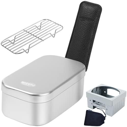 MiliCamp MR-250 メスティン4点セットキャンプ 飯ごう バリ取り済 アウトドア 自宅炊飯 防災対策 登山 調理器具