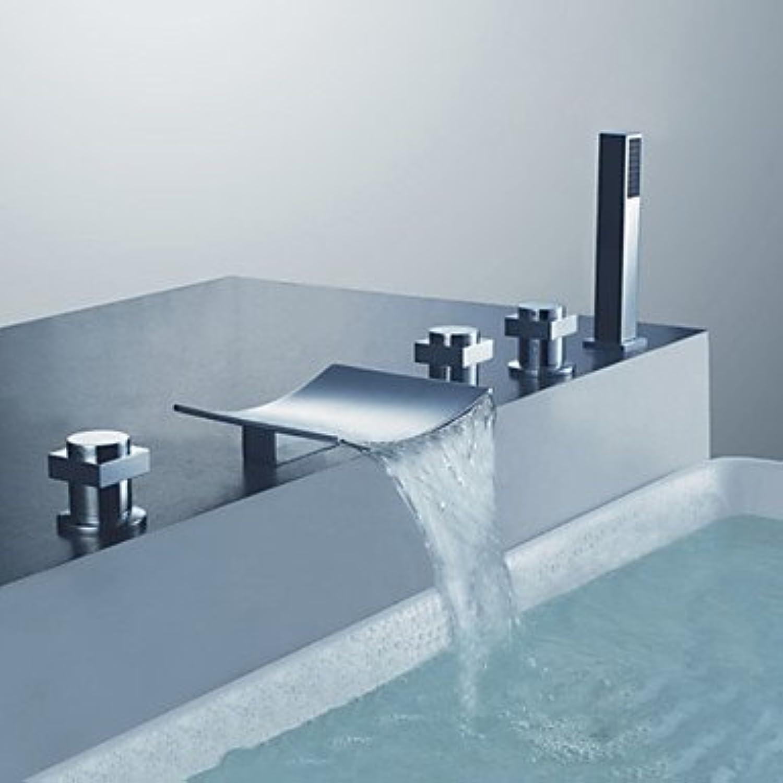 SQL Zeitgenssische Badewanne und Dusche-Handbrause Lieferumfang Keramik Ventil drei griffen fünf Lcher für Chrome. Brausebatterie   Badewanne Wasserhahn