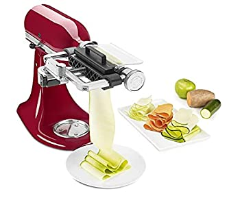 KitchenAid KSM2SCA Stand Mixer Attachments VEGETABLE SHEET CUTTER WITH NOODLE BLADE One Size Stainless Steel