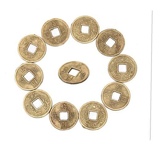 Monedas 100pcs Afortunado Chino Ching Antiguo Juego Educativo Diez emperadores de la antigüedad de Fortune Moneda del Dinero de Suerte de la Fortuna Riqueza