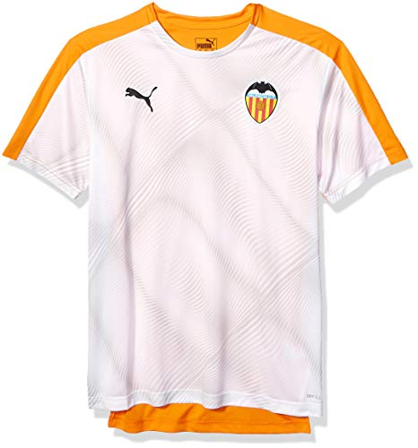 PUMA Men's Valencia VCF Stadium Jersey, Vibrant Orange White, S