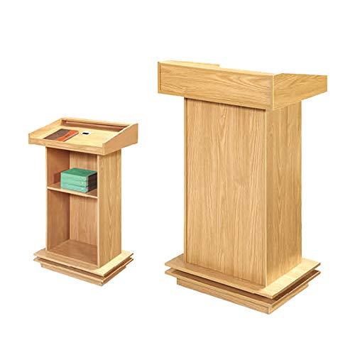 JRPT Rednerpult 25Mm Platte,Welcome Desk Mit Box,Stehpult Mit Bücherregal Multifunktion Wunderschönen pult/Grün / 50×70×120cm