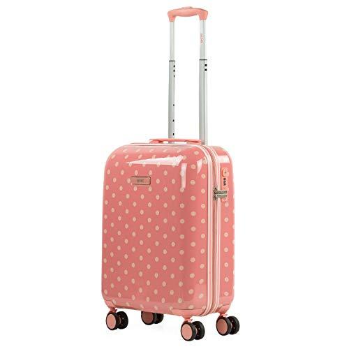 SKPAT - Maleta Cabina Juvenil de Viaje Estampada. Tolley 4 Ruedas Dobles. Candado TSA. Cómoda, Ligera y Resistente. Apta para Vuelos Low Cost 132350, Color Coral