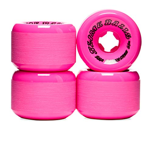 Santa Cruz Scudwads Vomits Neon Pink 95a Skateboard Wheel 60mm Pink