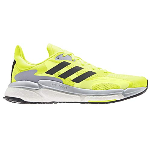 adidas Boost 21 M, Zapatillas para Correr Hombre, Solar Yellow Core Black Halo Silver, 40 EU
