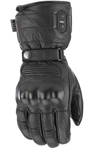 Highway 21 Radiant Heated Men's Cold Weather Motorcycle Leather Glove Waterproof Black Size Large