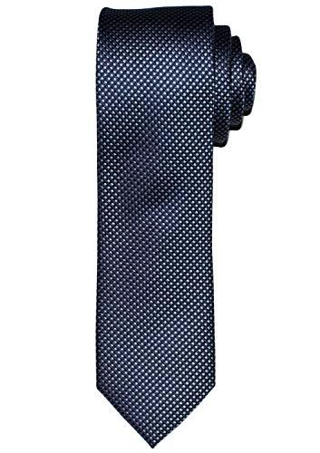 OLYMP Krawatte regular aus Seide mit Nano-Effekt Struktur dunkelblau