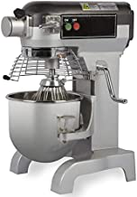 Chef's Exclusive CE743 Commercial All Purpose Gear Driven Planetary Stand Mixer with 1/2 HP Motor and Bowl Guard with Safety Interlock Includes Dough Hook Flat Beater and Wire Whip, 10 Quart, Metallic