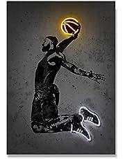 Sport målning affisch basketstjärna NBA kanvas affisch tryck vägg bild för modernt vardagsrum gym dekoration bilder 50x70cmx1 ingen ram