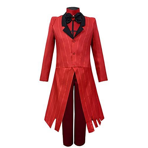 Hazbin Hotel Cosplay Traje Angel Dust Cosplay Disfraz de Halloween Trajes Chaqueta Abrigo Pantalones Conjunto Completo Uniforme para Mujeres Hombres