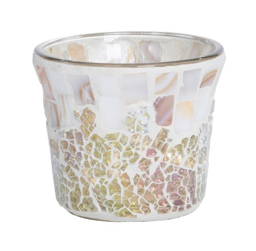 YANKEE CANDLE - Portacandela votivo, 7 x 7 x 8,3 cm, Colore: Oro