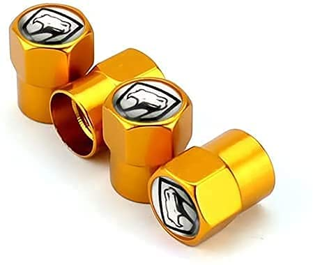 4 Piezas Coche Tapas de Válvula para Dodge RAM 1500 2500 Charger Durango Challenger Journey Jcuv, Cubiertas Impermeables de Prueba de Polvo Tapones de Válvula de Neumáticos