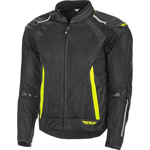 Fly Racing Coolpro Mesh Men's Street Motorcycle Jackets - Black/Hi-Vis/X-Large