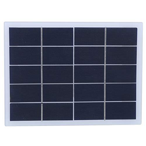 Keenso Pannello Solare Esterno, 3W 5V Ricambio Pannello Solare in silicio policristallino Pannello Solare Fai-da-Te Uscita CC Caricabatterie Batteria Giardino Esterno