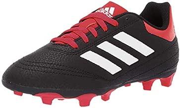 adidas Unisex-Kid's Goletto VI Firm Ground Football Shoe, Black/White/Scarlet, 13K M US Little Kid
