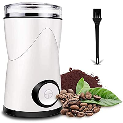 Coffee Grinder, Keenstone Electric Coffee Bean Grinder Mill Grinder with Noiseless Motor One Touch Design Home and Office Portable Use, Also for Spices, Pepper, Herbs, Nuts
