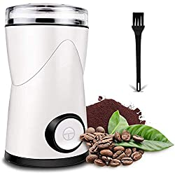 Image of Coffee Grinder, Keenstone Electric Coffee Bean Grinder Mill Grinder with Noiseless Motor One Touch Design Home and Office Portable Use, Also for Spices, Pepper, Herbs, Nuts: Bestviewsreviews
