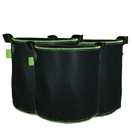 DIYer Pflanzsack aus Vliesstoff - 7 Gallonen, ca. 27 Liter - 3er Pack Pflanztasche Kartoffelsack Pflanzbeutel - Die gesunde Alternative