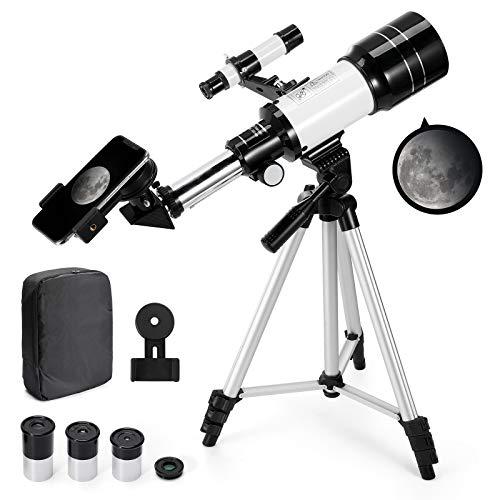 Telescopio Astronómico Zoom 150X HD 300/70 mm de Alta Ampliación Alcance de...