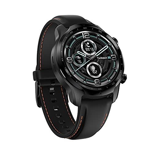 TicWatch Pro 3 Reloj inteligente con GPS para hombres y mujeres, Wear OS by Google, Pantalla de doble capa 2.0, Batería de larga duración, Negro