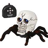 Qeedio - Araña electrónica para Halloween, Esqueleto espantoso,...