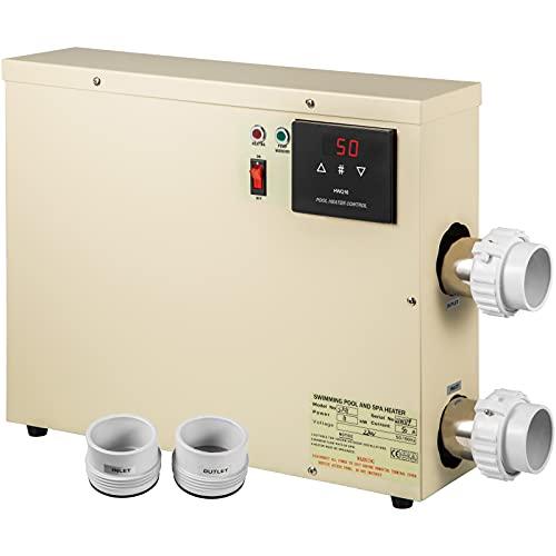 VEVOR Termostato de Piscina Eléctrica con Manguera 11kW 220V, Termostato de Calefacción...