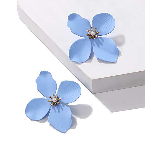 Burenqi oorbellen met 7 soorten knopen snoepkleur bedrukt geel wit blauw oorbellen bloemen roze voor geschenk sieraden dames bruiloft