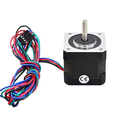 DOITOOL 1 Pc Stepper Motor 17 Bipolar 4 Lead 40mm 64oz.in(45Ncm) 2A for 3D Printer CNC