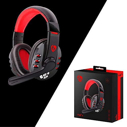 fancheng Gaming Headset, Draadloze Gaming Headset met Volume Control Extra Mic-gedempt, HD Micro Oplaadbare Batterij voor PC Laptop PS4 Xbox One