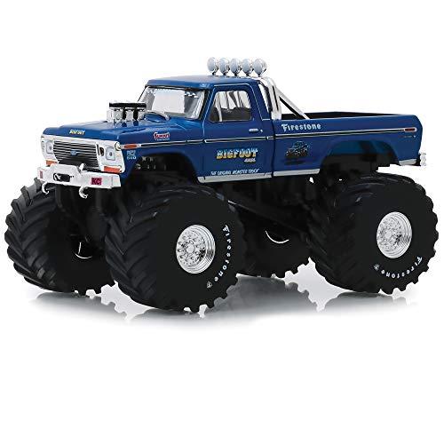 Greenlight kompatibel mit Ford F-250 Pick Up Bigfoot #1 Original Monster Truck 1974 blau 66-inch Reifen Modellauto 1:43 Collectibles