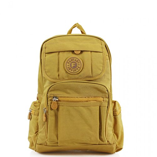 SALE SALE Unisex Light Weight Medium/Small Fabric Backpack Bag/Men's/Women's-Gym Bag/Travel Bag (Yellow)