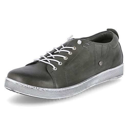 Andrea Conti Damen Schuhe Leder Slipper Grau 0347891-261, EU 41