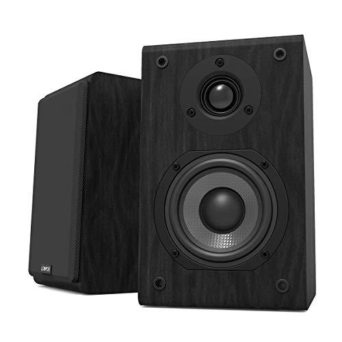 "LONPOO LP42 Altavoces de estantería pasivos, Par de Altavoces de estantería,Hi-Fi Altavoz de 2 vías, 150W de Potencia, Woofer de 4"", Bookself Speakers, Negro"