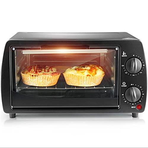 JUULLN 9L Mini Horno, Fabricantes de Pan tostadora Horno Hogar Cocina Hornear Pequeño Horno eléctrico automático Multifunción (Color : Black)