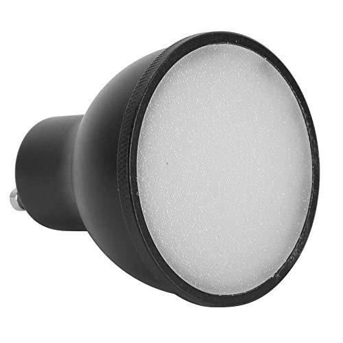Toasses Bombilla L-E-D 6W Control de Voz Dimmable GU10 WiFi Intelligent Light Cup Compatible para Alexa/Google (Negro 110~240V)