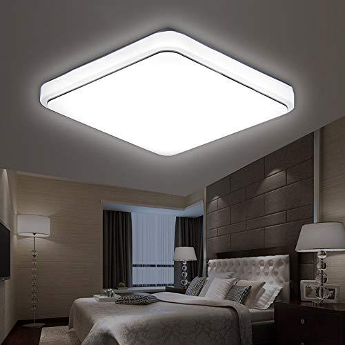 Lixada Vierkante LED plafondlamp AC220-V witte kleur keuken balkon veranda Moderne vlakverlichting