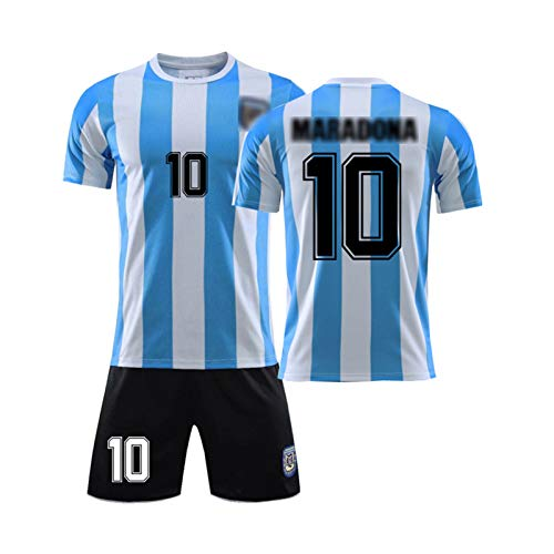 1986 Retro Fußball Trikot # 10 Dǐěgǒ Ǎrmǎndǒ Mǎrǎdǒnǎ/Argentinien WM-Legende Trikot, Fußballuniform Für Erwachsene Und Kinder, Fußballtrikots T-Shirt Shorts Kits M
