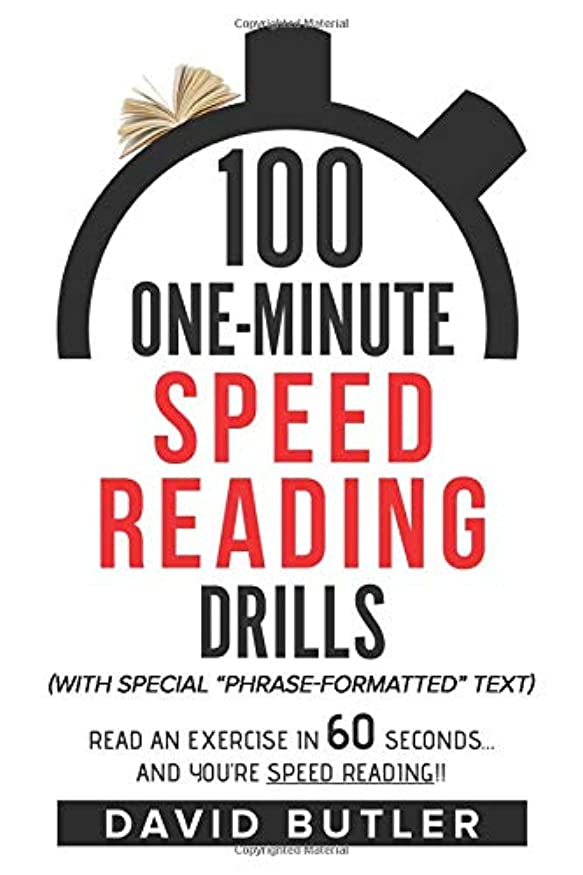 手当アミューズメント安全な100 One-Minute Speed Reading Drills: Read an Exercise in 60 Seconds... and You're Speed Reading!!