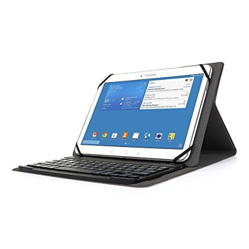 CoastaCloud Estuche de teclado bluetooth AZERTY francés magnético, inalámbrico para tabletas con sistemas operativos (iOS, Android y Windows) [no se garantiza la distribución del teclado UK][Negro]