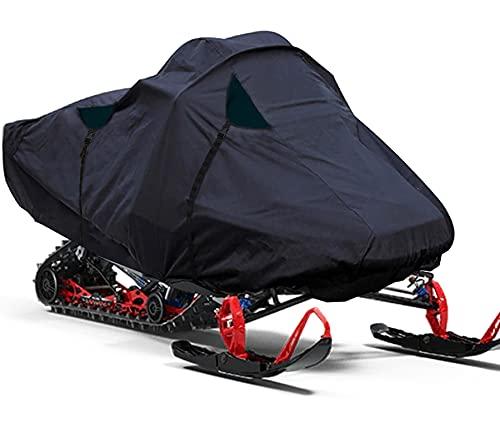 POLARIS   SKIDOO   YAMAHA BLACK OXFORD 방수 패브릭 TRAILERABLE SNOWMOBILE 보관 커버 스노우 머신 썰매 커버를위한 범용 스노우 모빌 방수 직물 X-LARGE 150``X W 51``X H 50 ``
