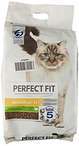 Perfect Fit Kattenvoer Sensitive Adult 1+ Indoor, Kalkoen Smaal, 1 Zak (1 x 7 kg)