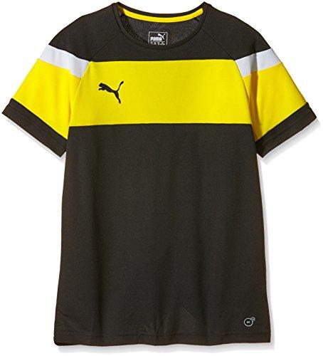 PUMA Kinder T-shirt Spirit II Training Jersey, black-Cyber yellow, 116