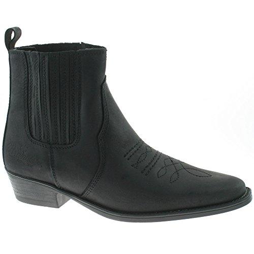 Wrangler Mens Leather Cowboy Boots Size UK 7-12 TEX MID Black WM122981K-UK 9 (EU 43)