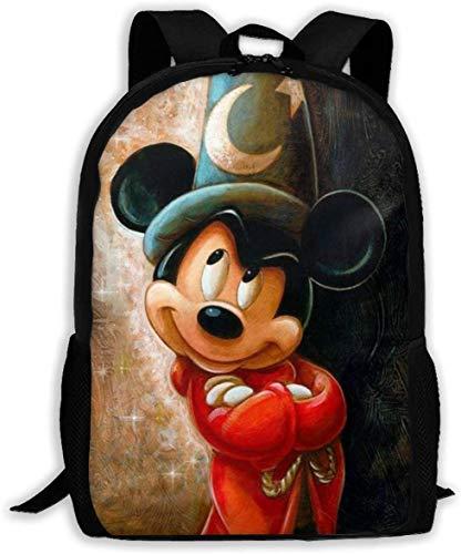 Paint MIk-Key Mouse - Mochila clásica de viaje básica para escuela resistente al agua