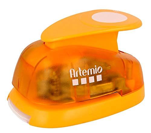 Artemio–3,5cm 3,33cm Palanca Perforadora de Papel, Color Naranja