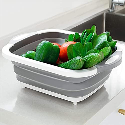 ZFQZKK Colanders Collapsible, Colander Strainer Drain Basket Basin Over The Sink Vegetable/Fruit Colanders Strainer,Folding Strainer for Kitchen 1 pc camping water containers