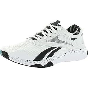 Reebok Women's HIIT Training Shoe, White/Black/seaport teal, 5 M US