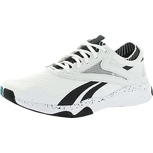 Reebok Women's HIIT Training Shoe, White/Black/Seaport Teal, 8 M US