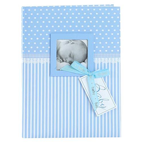 Goldbuch Babytagebuch mit Fensterausschnitt, Sweetheart, 21 x 28 cm, 44 illustrierte Seiten, Kunstdruck, Blau, 11802
