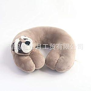 JHMAOYI Almohada para el cuello lindo león de dibujos animados almohada en forma de U viaje felpa de viaje PP algodón almohada para el cuello